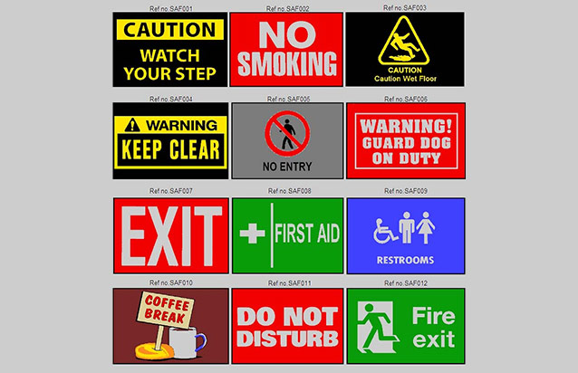 Safety Message Matting